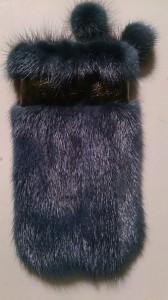Чехол из синей норки