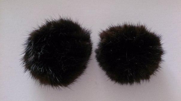 Резинки из черной норки маленькие
