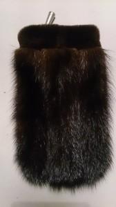 Чехол коричневый со стриженой норкой