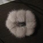 Резинка из помпонов, цвет сапфир
