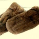 Варежки из норки стриженые