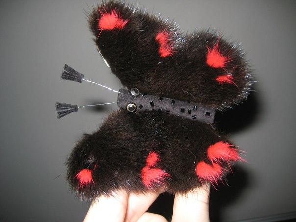 Заколки для волос из меха